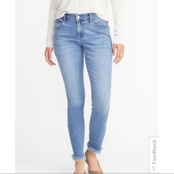 9b9a77c85c3 Frayed hem skinny jeans